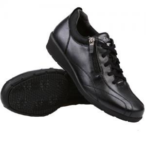 IS多威真皮健步鞋超时尚男款黑色45号